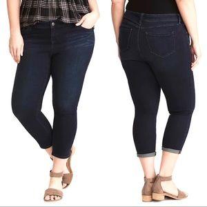 Torrid Cropped Luxe Skinny Jeans Dark Wash Stretch